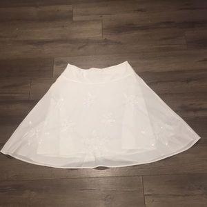 Esprit White Cotton Skirt